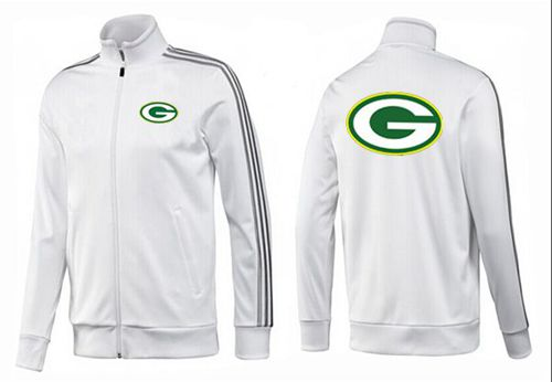 NFL Green Bay Packers Team Logo Jacket White_3
