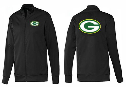 NFL Green Bay Packers Team Logo Jacket Black_1