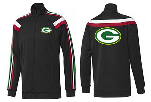 NFL Green Bay Packers Team Logo Jacket Black_2
