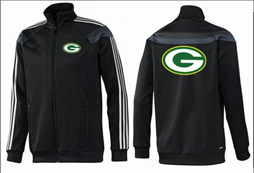 NFL Green Bay Packers Team Logo Jacket Black_3