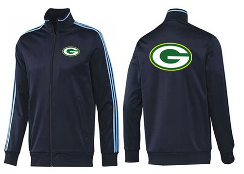 NFL Green Bay Packers Team Logo Jacket Dark Blue
