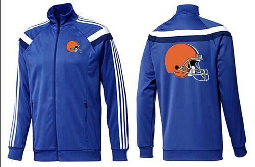 NFL Cleveland Browns Team Logo Jacket Blue_1