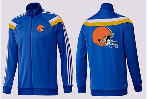NFL Cleveland Browns Team Logo Jacket Blue_2