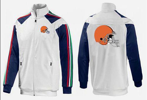 NFL Cleveland Browns Team Logo Jacket White_1