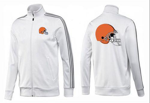 NFL Cleveland Browns Team Logo Jacket White_2