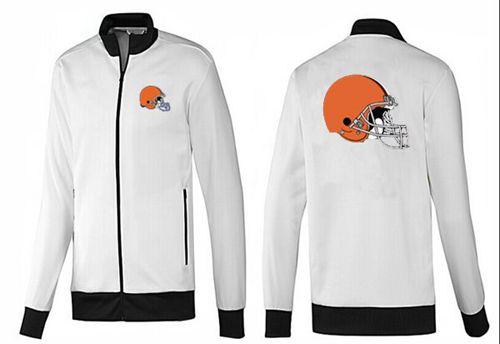 NFL Cleveland Browns Team Logo Jacket White_3