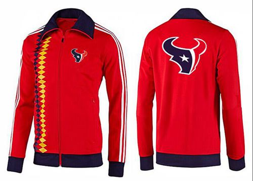 NFL Houston Texans Team Logo Jacket Red_2