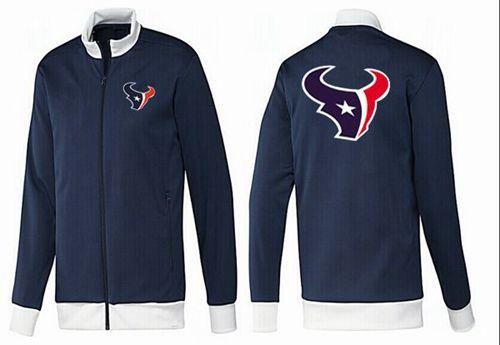 NFL Houston Texans Team Logo Jacket Dark Blue_1