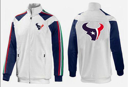 NFL Houston Texans Team Logo Jacket White_2
