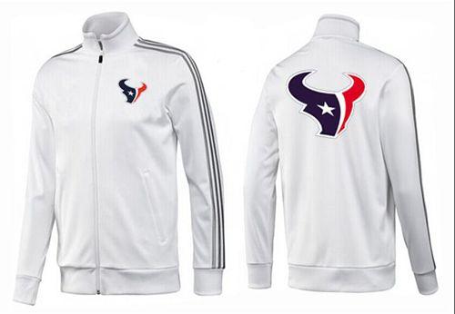 NFL Houston Texans Team Logo Jacket White_3