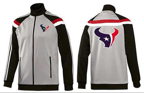NFL Houston Texans Team Logo Jacket Grey