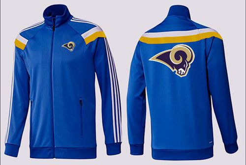 NFL Los Angeles Rams Team Logo Jacket Blue_2