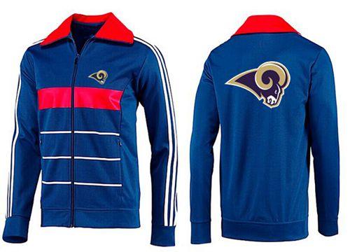 NFL Los Angeles Rams Team Logo Jacket Blue_3