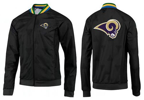 NFL Los Angeles Rams Team Logo Jacket Black_1
