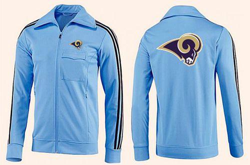 NFL Los Angeles Rams Team Logo Jacket Light Blue