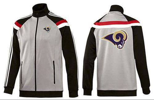 NFL Los Angeles Rams Team Logo Jacket Grey