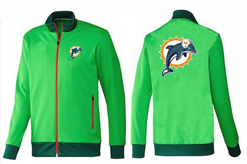 NFL Miami Dolphins Team Logo Jacket Green_1