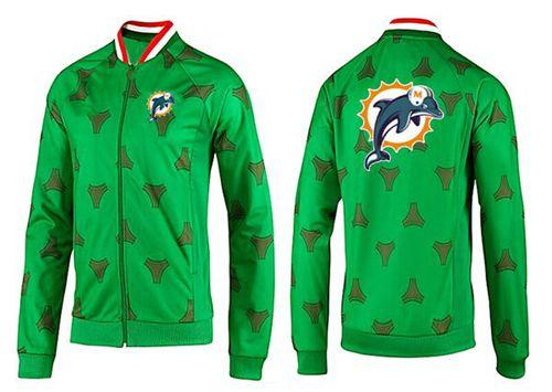NFL Miami Dolphins Team Logo Jacket Green_2
