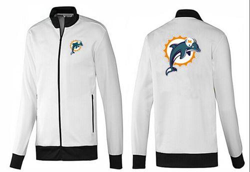 NFL Miami Dolphins Team Logo Jacket White_1