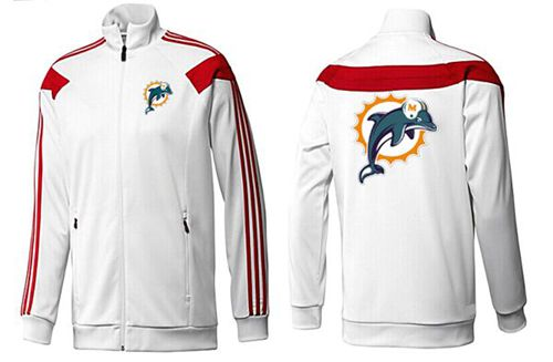 NFL Miami Dolphins Team Logo Jacket White_2
