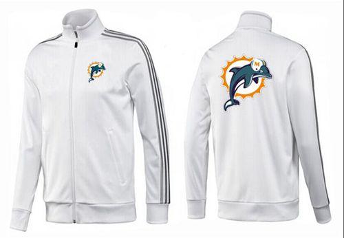 NFL Miami Dolphins Team Logo Jacket White_3