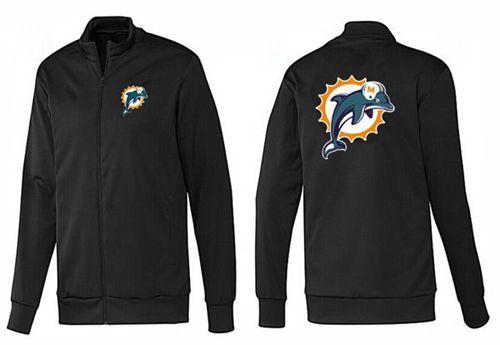 NFL Miami Dolphins Team Logo Jacket Black_1