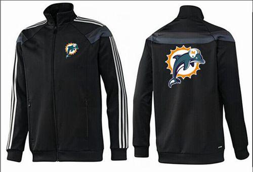 NFL Miami Dolphins Team Logo Jacket Black_2