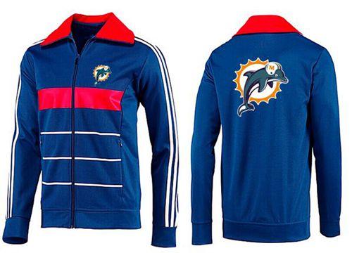 NFL Miami Dolphins Team Logo Jacket Blue_1