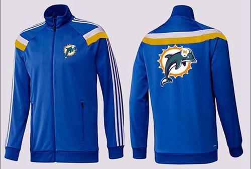 NFL Miami Dolphins Team Logo Jacket Blue_2