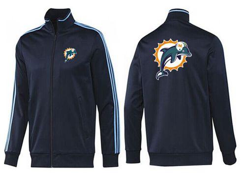 NFL Miami Dolphins Team Logo Jacket Dark Blue
