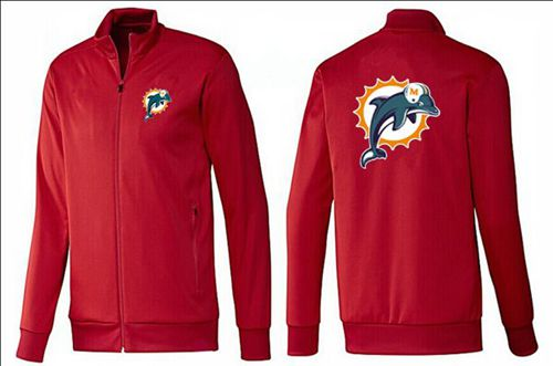 NFL Miami Dolphins Team Logo Jacket Red