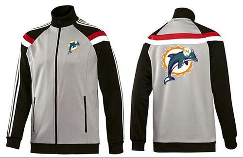 NFL Miami Dolphins Team Logo Jacket Grey