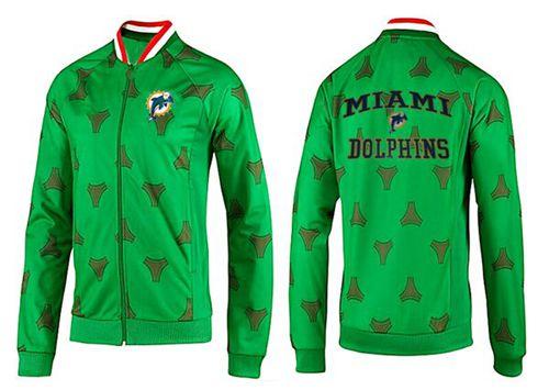 NFL Miami Dolphins Heart Jacket Green_1