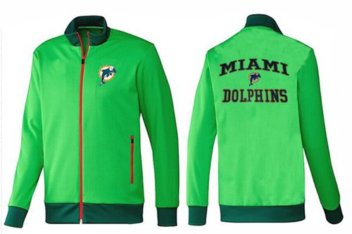 NFL Miami Dolphins Heart Jacket Green_2