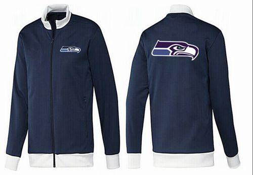 NFL Seattle Seahawks Team Logo Jacket Dark Blue_1