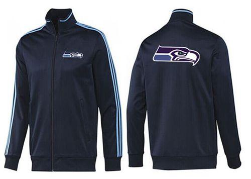 NFL Seattle Seahawks Team Logo Jacket Dark Blue_2