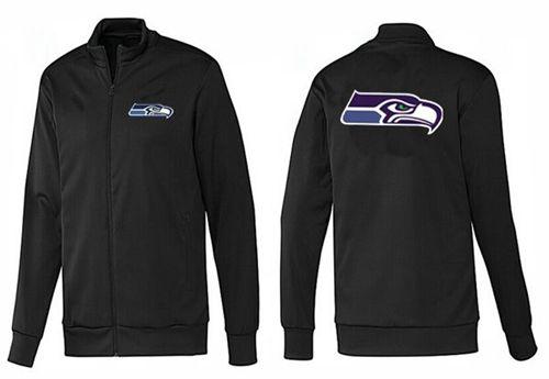 NFL Seattle Seahawks Team Logo Jacket Black_1