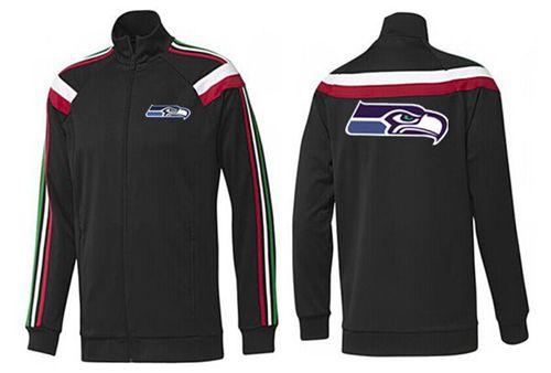 NFL Seattle Seahawks Team Logo Jacket Black_2