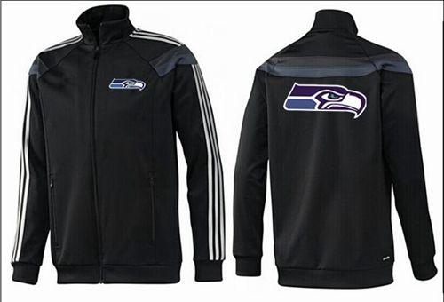 NFL Seattle Seahawks Team Logo Jacket Black_3
