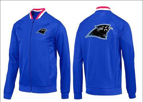 NFL Carolina Panthers Team Logo Jacket Blue_1