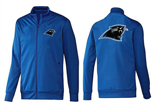 NFL Carolina Panthers Team Logo Jacket Blue_2