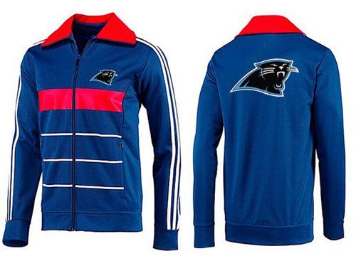 NFL Carolina Panthers Team Logo Jacket Blue_4