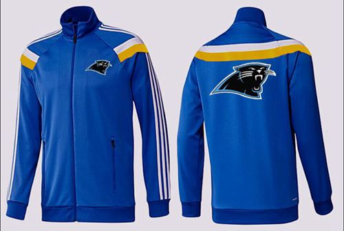 NFL Carolina Panthers Team Logo Jacket Blue_5