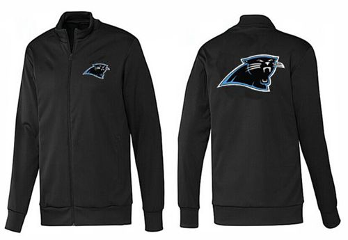 NFL Carolina Panthers Team Logo Jacket Black_1