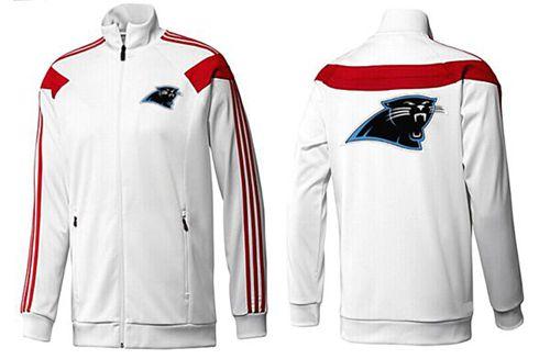 NFL Carolina Panthers Team Logo Jacket White