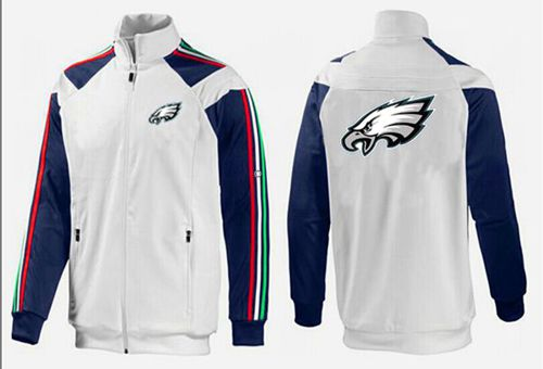 NFL Philadelphia Eagles Team Logo Jacket White_2