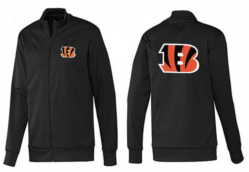 NFL Cincinnati Bengals Team Logo Jacket Black_1
