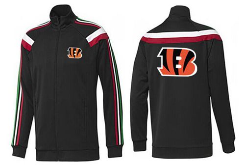 NFL Cincinnati Bengals Team Logo Jacket Black_2