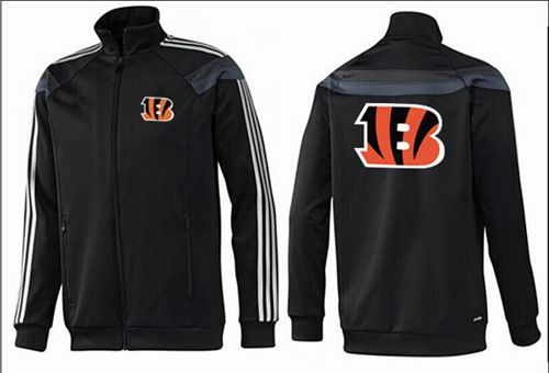 NFL Cincinnati Bengals Team Logo Jacket Black_3