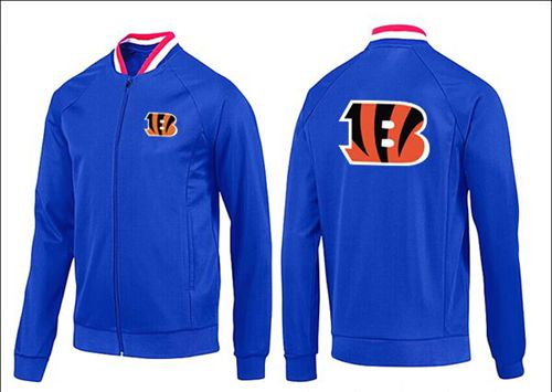 NFL Cincinnati Bengals Team Logo Jacket Blue_1